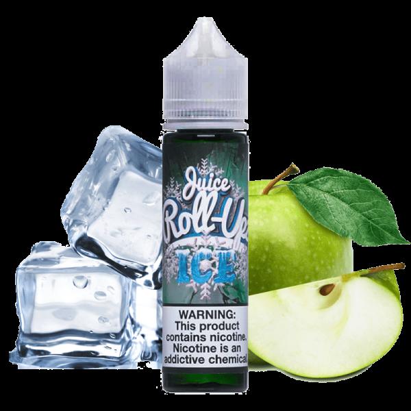 جوس رول آپز ROLL UPZ JUICE Green Apple Ice 60 ml NIC 3