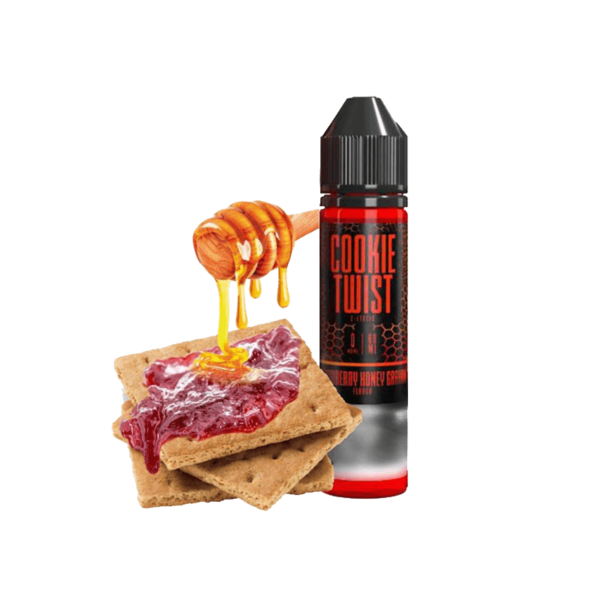 جوس توئیستد TWISTEDLIQUID STRAWBERRY HONEY GRAHAM 60 ML NIC 3