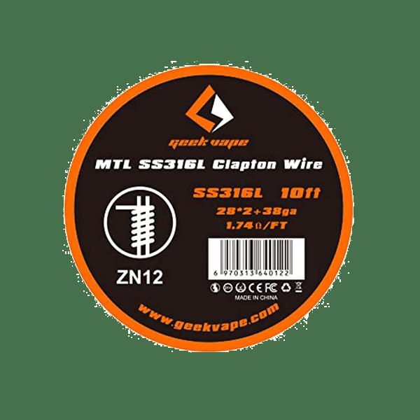 وایر گیگ ویپ ام تی ال GEEK VAPE MTL SS316L CLAPTON WIRE