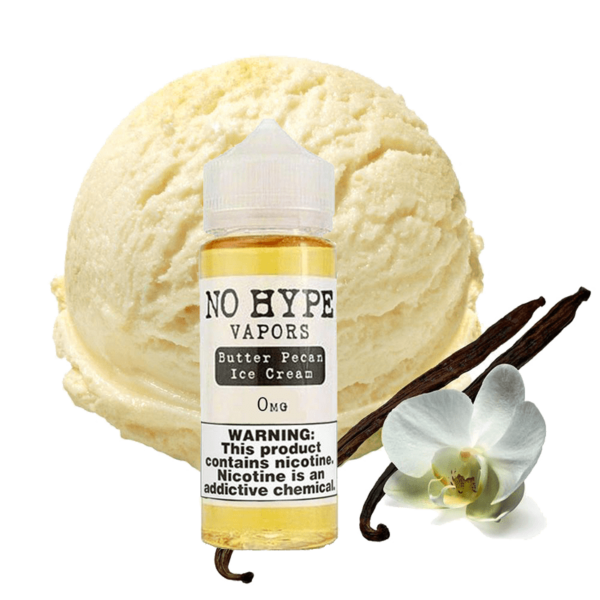 جوس نو هایپ NO HYPE BUTTER PEACAN ICE CREAM EJUICE 120 ML NIC 3