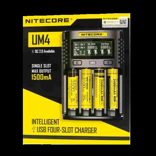 شارژر نایکور ۴ خشاب Nitecore UM4 Intelligent USB