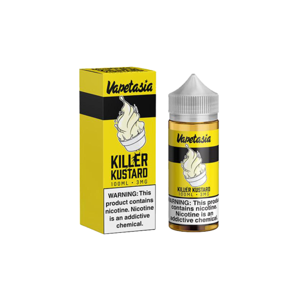 جوس ویپ تژا کیلر کاستارد VAPETASIA KILLER KUSTARD 100 ML NIC 6