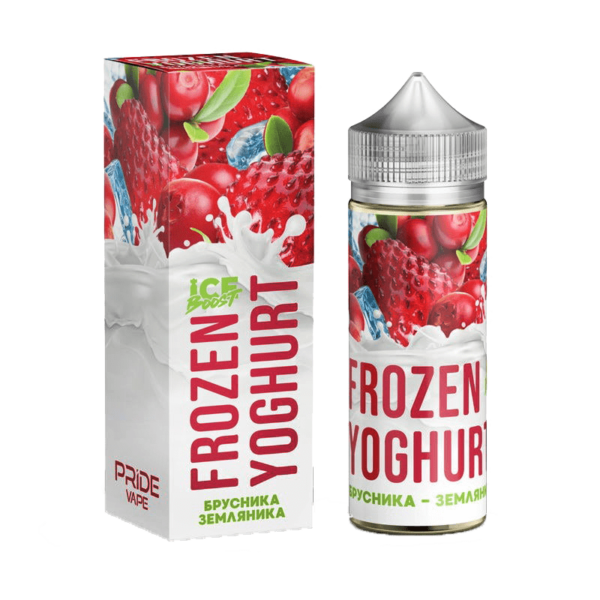 جوس پراید ویپ PRIDE VAPE frozen yoghurt ice boost БРУСНИКА – ЗЕМЛЯНИКА EJUICE 120 ML